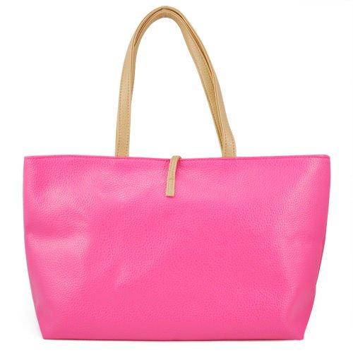 Gleader Coreano stile borsetta Hobo borsa di cuoio Borsa a tracolla PU da donna - Rosa rosso Descuento 2018 Unisex CBj4VDsw