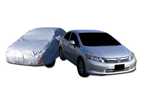 Velocity Racing 4700Mm 4 Layer Waterproof Anti Uv Rain Snow Resistant Car Cover+Mirror Pocket