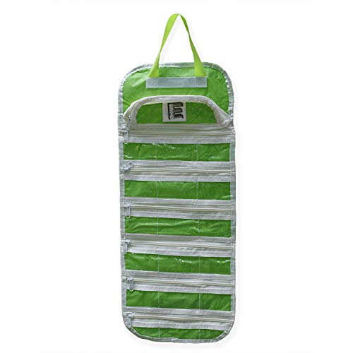 Arts Crafts and Sewing Organizer EASYVIEW Portable Hanging Storage Case (Green)