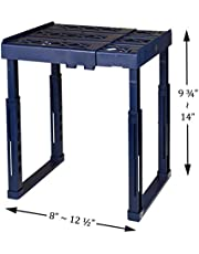 """Tools for School Locker Shelf. Adjustable Width 8"""" - 12 1/2"""" and Height 9 3/4"""" - 14"""". Stackable and Heavy Duty. Ideal for School, Work and Gym Lockers"""