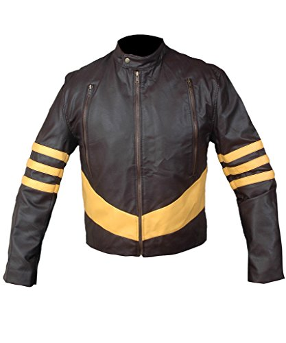 Original X Men Costumes (F&H Men's X-Men Origins Wolverine Jacket XS Brown)