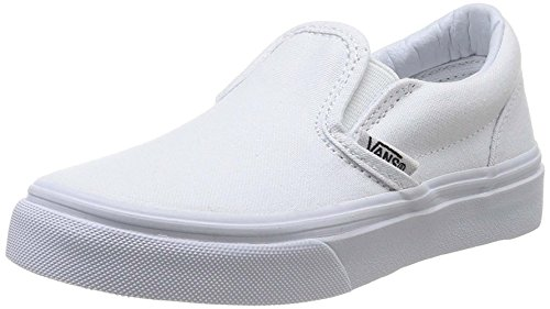 (Vans Youth Classic Slip-On Core, White-12.5)