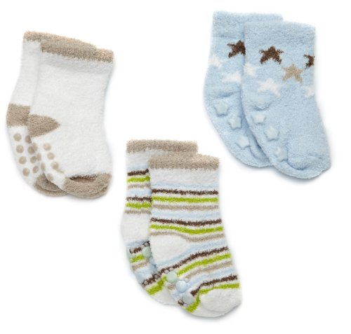 Carter's Hosiery Baby-Boys Infant 3 Pack Chenille Socks, Blue, 0-3 Months by Carter's