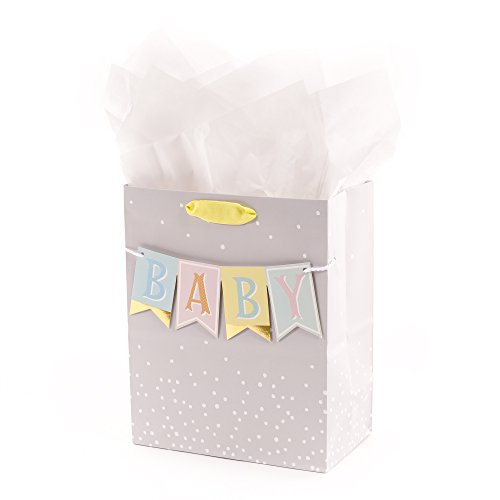 Hallmark Medium Baby Gift Bag with Tissue Paper (Baby Banner)