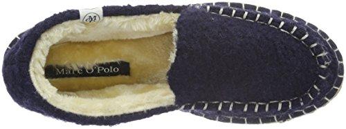 Marc O'Polo Hausschuh - Pantuflas cálidas con forro Mujer Azul - Blau (Dark Blue 880)
