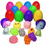 12 pcs of Eggs in Colors with Surprise Squishy for Easter Mochi Squishies for Party Favor