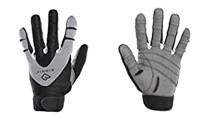 Bionic Men's PerformanceGrip Full Finger Fitness Gloves, Medium, Black/Grey