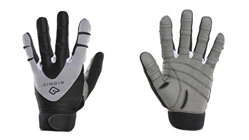 Bionic Men's PerformanceGrip w/ NaturalFit Technology Full Finger Fitness Gloves, Black (PAIR)
