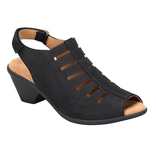 Comfortiva Women's, Faye Mid Heel Sandal Black 10 W