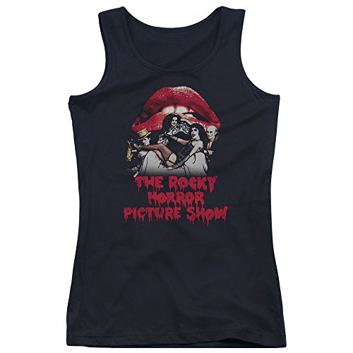 Rocky Horror Picture Show Casting Throne Juniors Tank Top Shirt Black Sm