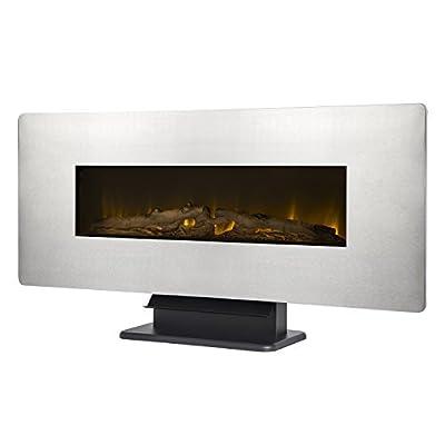 """Muskoka 42"""" Wall Mount Electric Fireplace-Zinc"""
