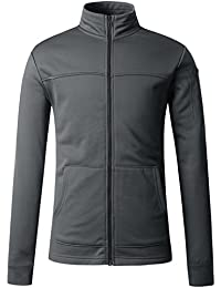Men's Lightweight Performance Fleece Hooded/Stand-up Neck Jacket