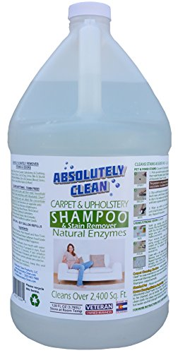 Absolutely Clean Carpet and Upholstery Shampoo, Stain Remover and Leather Cleaner, Remove Stains in 60 Seconds, Cleans over 2400 sq. ft.