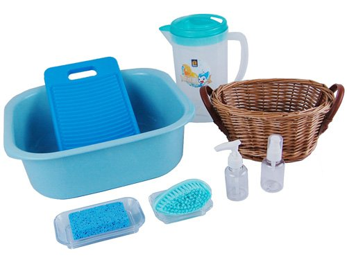 Montessori Washing Clothes Activity - Blue
