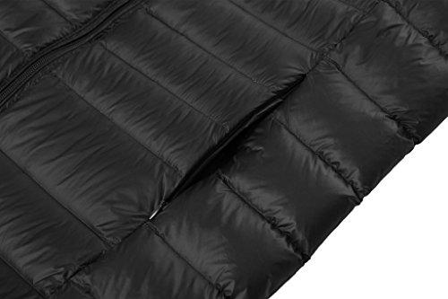 Wantdo Mujer Abrigo De Plumas Plegable Con Capucha Ligero De Ultra Negro