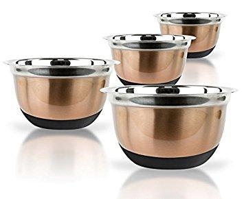 brown mixing bowl set - 2