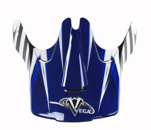 Vega Viper Junior Off-Road Helmet Visor with Kraze Graphic (Blue)