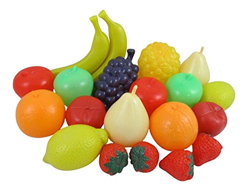 Liberty Imports Life Sized Bag of Fruits Play Food Playset for Kids (Play Food Fruit compare prices)