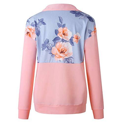 Rosa 01 TOPKEAL Hoodie Pullover Damen Herbst Winter