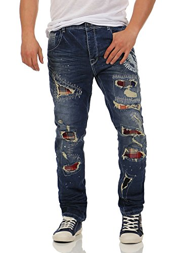 Yakuza Hombres Vaqueros / Vaqueros anchos Skeleton medium distressed