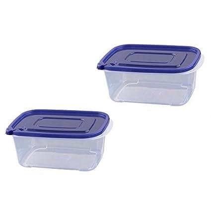 Amazon.com: 2pcs cozinha DealMux plástico Retângulo Airtight ...