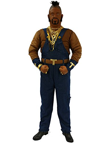 [Orion Costumes Mens Mr T Ba Baracus A Team 80s TV Fancy Dress Extra Large] (Mr T Costumes)