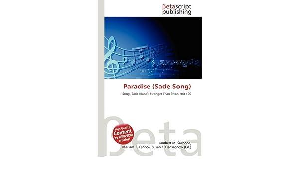 Paradise (Sade Song) - Lambert M  Surhone, Mariam T  Tennoe