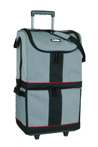 ArtBin Tote Express, Black/Gray Rolling Art Craft Storage Bag,6922SA