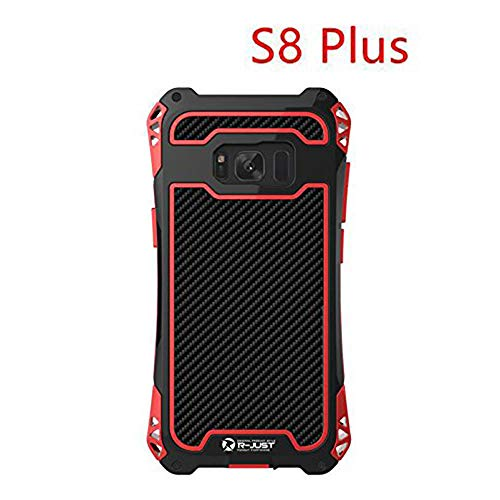 R-JUST Amira Powerful Life Shockproof Dirt Proof Case For Samsung Galaxy S8 Plus G9550 Case Cover Phone Cases Shell Skin Bag Without Gorilla Glass For Galaxy S8+ 6.2 Inch (Black Red)