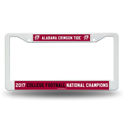 Rico Alabama Crimson Tide Official NCAA 2017 National Championship Champs License Plate Frame Plastic by 463142 by Rico