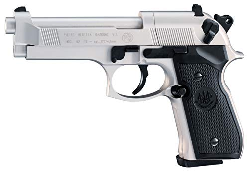 Beretta M92 FS, .177 Pellet CO2 Pistol, Nickel
