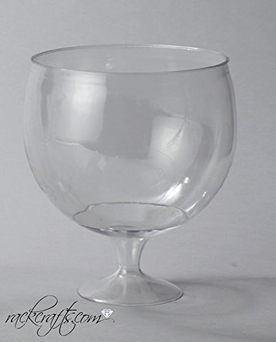 rackcrafts.com Large Party Toasting Thick Plastic Cups Glass Heavy Duty Wine Champagne Margarita Martini (4)]()