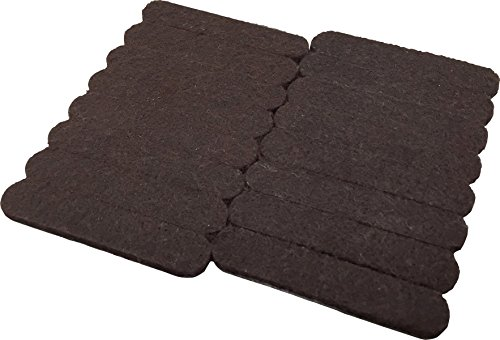 Shepherd Hardware 9865 1/2-Inch x 2-5/8-Inch Heavy Duty Self-Adhesive Felt Furniture Strips, 16-Pack, Brown