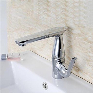 SEBAS HOME Basin Tap 360 Degrees redatable Chrome-Plated Brass Bathroom Sink Faucet - Silver Bathroom Faucet Basin Mixer Tap