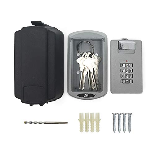 Key Lock Box with Waterproof Case - Premium Storage Box for Outside Master Key - Designed for Homes, Business, Realtors, Rental Properties, Property Managers