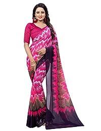 Shonaya Women`S Party Wear Pink Colour Georgette Printed Saree