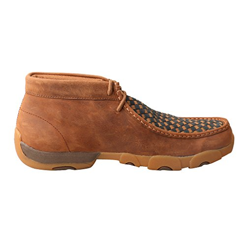 Image of Twisted X Men's Leather Lace-up Rubber Sole Moc Toe Driving Moccasins - Copper