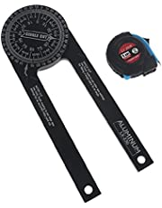 Miter Saw Protractor 7-Inch Aluminum Protractor Angle Finder Featuring Precision Laser-Inside & Outside Miter Angle miter saw protractor angle finder miter saw protractor aluminum