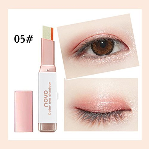 Oksale® Two-Color Gradient Eye Shadow Stick Shimmer Palette Eye Cream Pen, Build Three-Dimensional Sense Eye Makeup, Silk Worm Eyes Makeup (E) ()