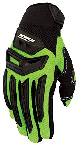 CRAZY AL'S SCOYCO MX54 Gloves Professional Motorcycle Motocross Racing Full Finger Gloves Sportswear Cycling Outdoor Sports Gloves Yellow Red White Grey Green M/L/XL/XXL (M, Green)