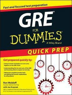 Ron Woldoff: GRE for Dummies Quick Prep (Paperback); 2015 Edition