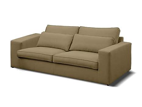 DLM Design Sofá en algodón Lino con Cojines Gran Confort ...