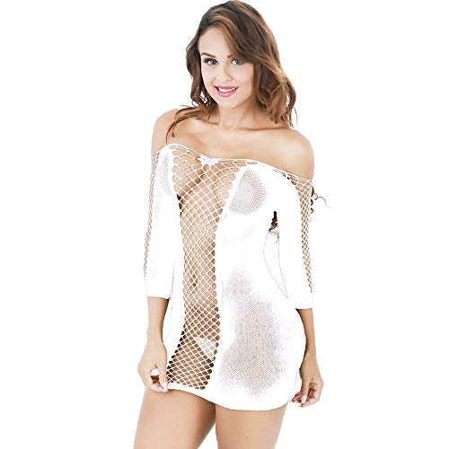 Price comparison product image Rakkiss Women's Sexy Transparent Mesh Bodycon Underwear Dress