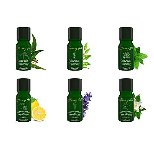 Best Essential Oils Gift Set for Aromatherapy, FREE EBOOK has Tips for Massage, Fragrance Recipes, Perfect for Therapeutic Results! Peppermint, Sandalwood, Eucalyptus, Lavender, Jasmine, Lemon