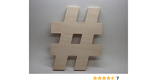 Metadata Tag for Social Media Pound Sign A33408 Wood Mounted Hashtag Rubber Stamp