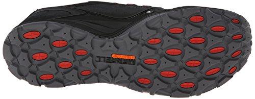 Merrell Mens Verterra Waterproof Hiking Shoe Black/Red 1ls0d28iLp