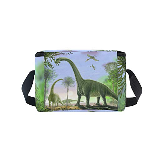 Animal picnic para enfriador de hombro de Bolsa argentinosaurio almuerzo fiambrera correa dinosaurios verde FXqAR