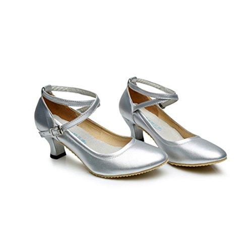 et chaussures latine chaussures Printemps automne de été adulte danse danse et modernes balle Argent d'hiver de dames 2017 chaussures nouvelles danse de TMKOO danse q4IwadHna