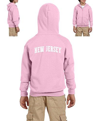 Ugo NJ New Jersey Flag Newark Map Tigers Home of Princeton University Heavy Blend Youth Full-Zip Hooded - New Jersey Kids Village