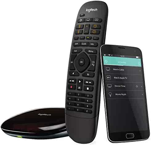 Logitech Harmony Companion All in One Remote Control for Smart Home and Entertainment Devices, Hub & App, Works With Alexa – Black